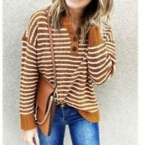 American Eagle Outfitters Henley Pullover Sweater